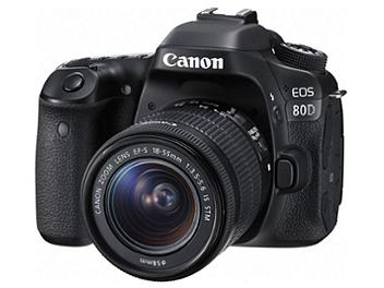Canon EOS-80D DSLR Camera Kit with Canon EF-S 18-55mm Lens