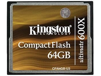 Kingston 64GB Ultimate 600x CompactFlash Memory Card 90MB/s