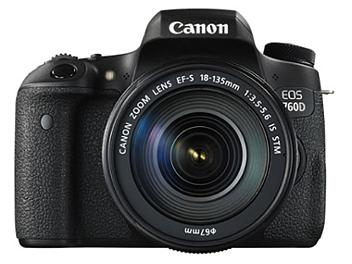 Canon EOS-760D Digital SLR Camera Kit with Canon EF-S 18-135mm Lens