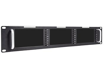 Globalmediapro FVT51-H 5-inch Triple Rack Mount LED Monitor