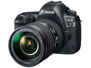 Canon EOS-5D Mark IV DSLR Camera Kit with Canon EF 24-105mm F4L II USM Lens