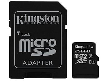 Kingston 256GB microSDXC Memory Card (Class 10) 80MB/s