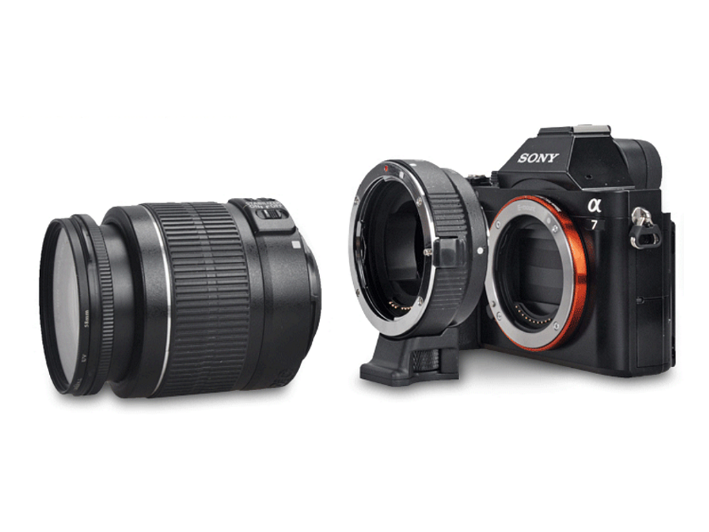 Commlite CM-EF-NEX EF / EF-S Lens to E-Mount Camera Mount Adapter ...