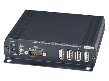 Globalmediapro SHE HKM01BR HDMI CAT5 Receiver with IR, KVM, USB, RS232