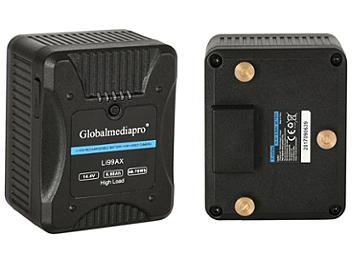 Globalmediapro Li99AX Gold Mount Li-ion Battery 99Wh