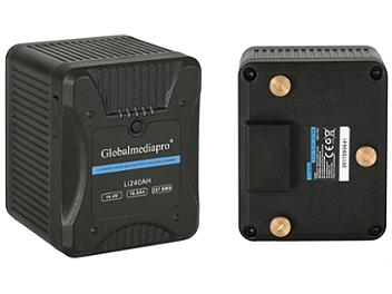 Globalmediapro Li240AH Gold Mount Li-ion Battery 237Wh