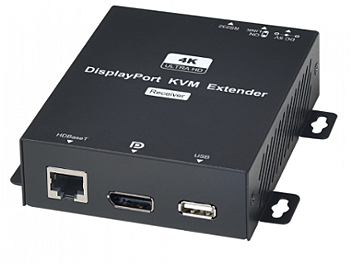 Globalmediapro SHE DP02U 4K DisplayPort KVM with USB/RS232 CAT5e Extender