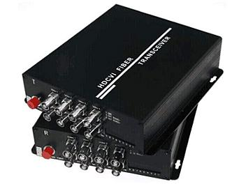 Beneston ACT-FB08TX/RX-H 8-channel AHD / TVI / CVI / Analog Fiber-Optic Converter (Transmitter and Receiver)